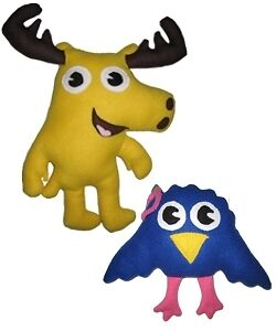Moose A Moose Soft Plush Stuffed Toy clone Noggin No Zee Nick Jr nickelodeon new