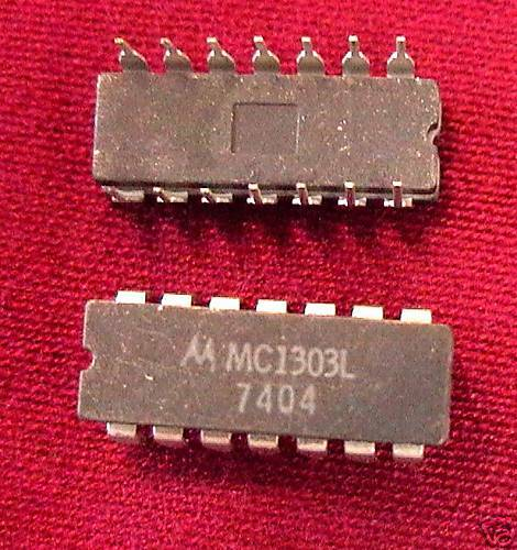 2 each Motorola Dual Preamp MC1303L IC quanity
