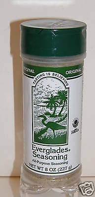 EVERGLADES SEASONING - ORIGINAL ALL PURPOSE - 8 OZ.  Free Shipping