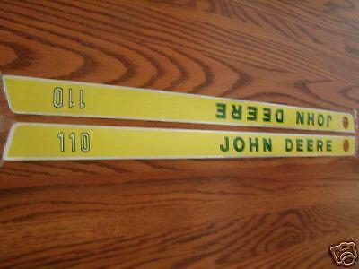Rare Old John Deere 110 Hood Decals--16