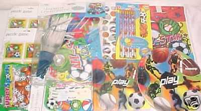 NEW SPORTS PARTY SUPPLIES TOYS FAVORS SOCCER BASKETBALL