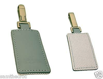 New Authentic LACOSTE Leather KEYRING KEY FOB  Club Collection 2 Chrome Blue