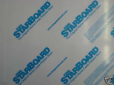 King Starboard 1/4 X 27 X 48  White hdpe Marine Board Free Shipping 24 54 12