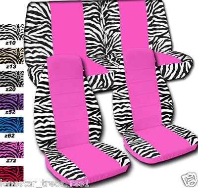 Jeep Wrangler Car Seat Covers Zebra Pink Cntr Fr Rear